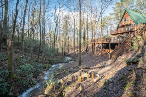 Falling Waters at Mustang Creek - Amazing property with waterfalls surrounded by National Forest