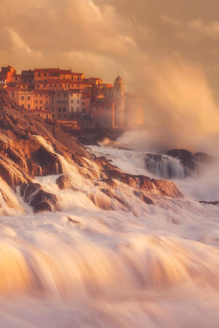 The romantic Tellaro during a big storm!