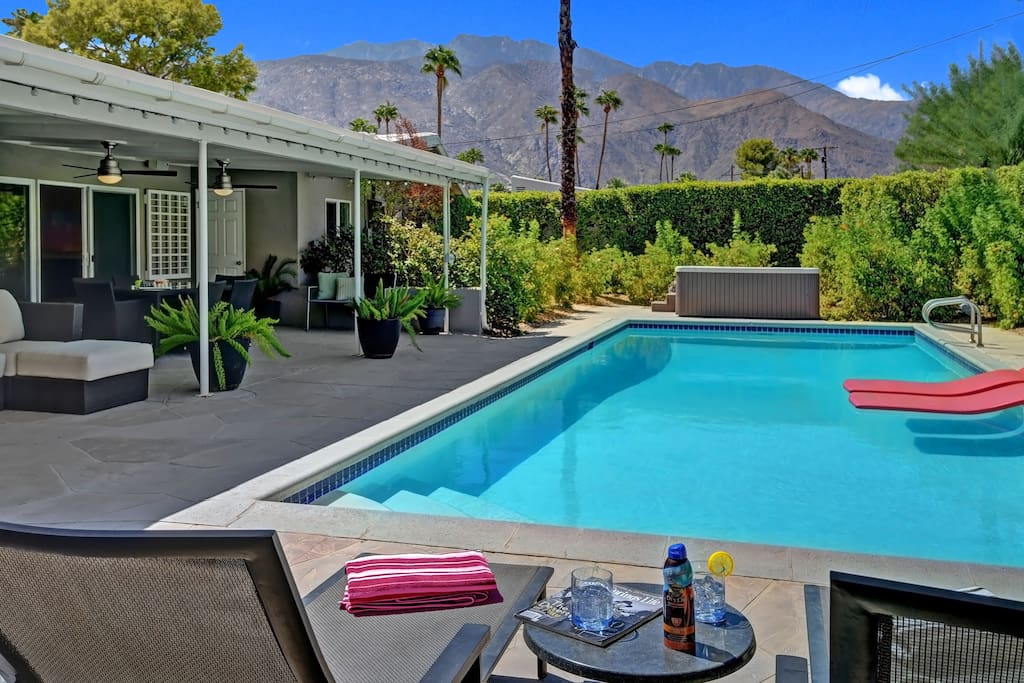 Master bedroom patio to pool and mountain view.