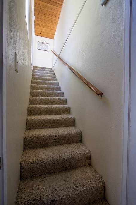 Stairway to The Loft (With the Door Open)