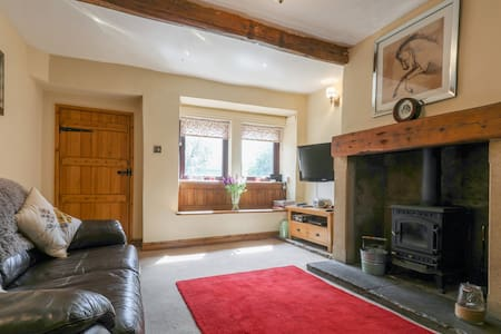 Moorside cottage near haworth with open fire