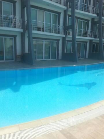 Аппартаменты с террасой и бассейном