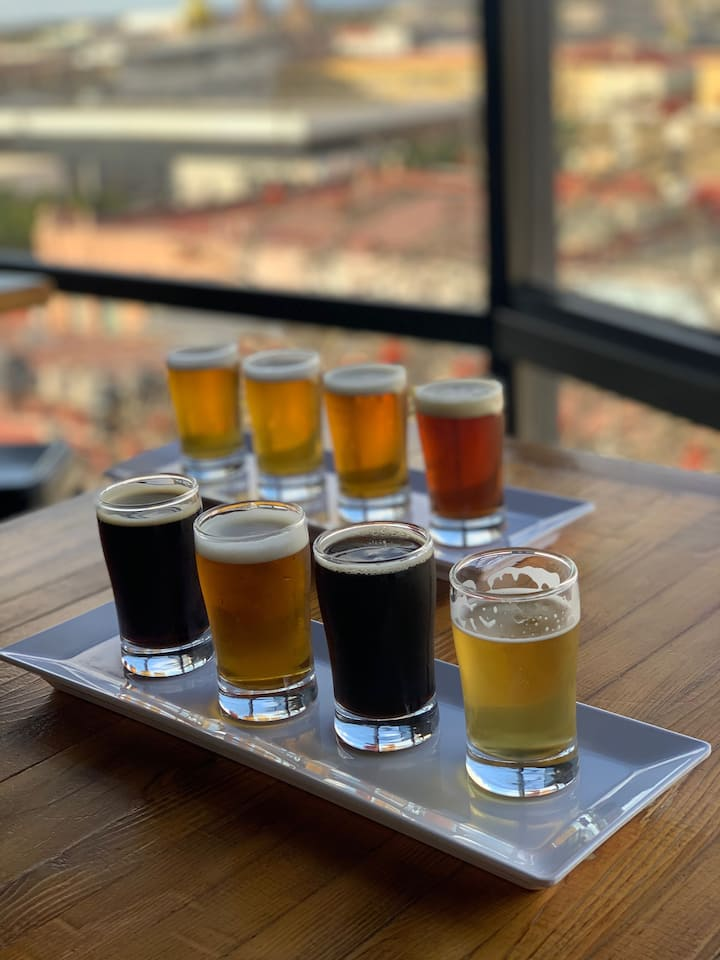 Beer tasting with a view