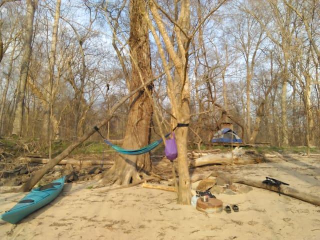 Spirit Island - Camping Platform- Haw River C & K - Graham - Tent