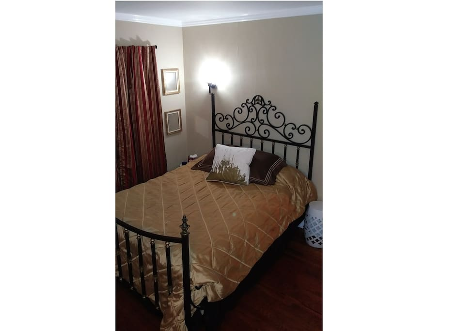 Your bedroom, with linen choice 1
