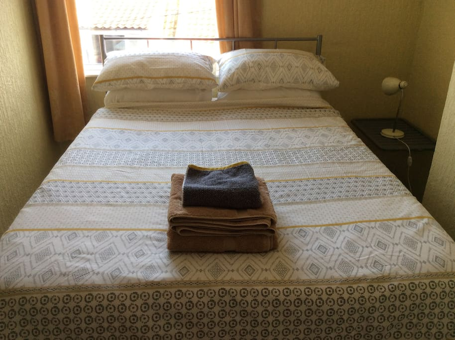 A great night's sleep - memory foam mattress and freshly laundered Egyptian cotton towels and bedding