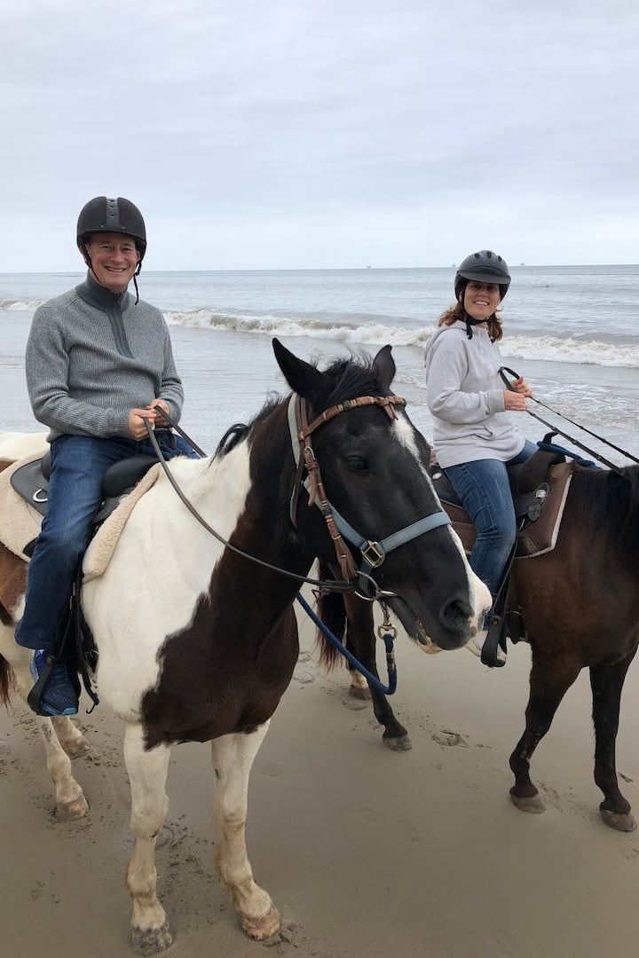 Overcast Morning Beach Ride