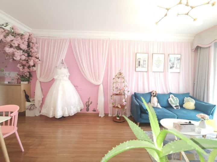 【艺家】  樱花小屋一室 游戏 婚纱  近方特 万达 高铁站  市中心