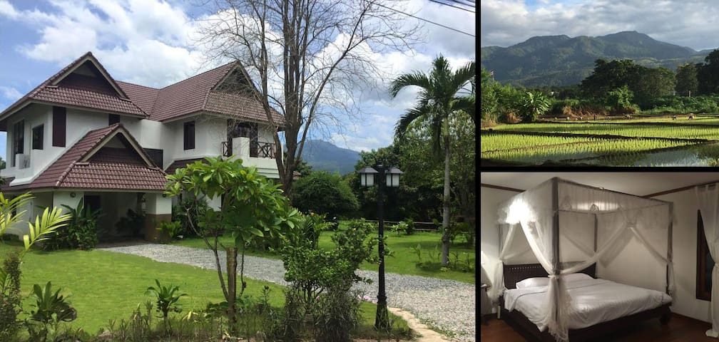 Large Villa, Mountain Views, Nature, Local Culture - Mae Rim  - Hus