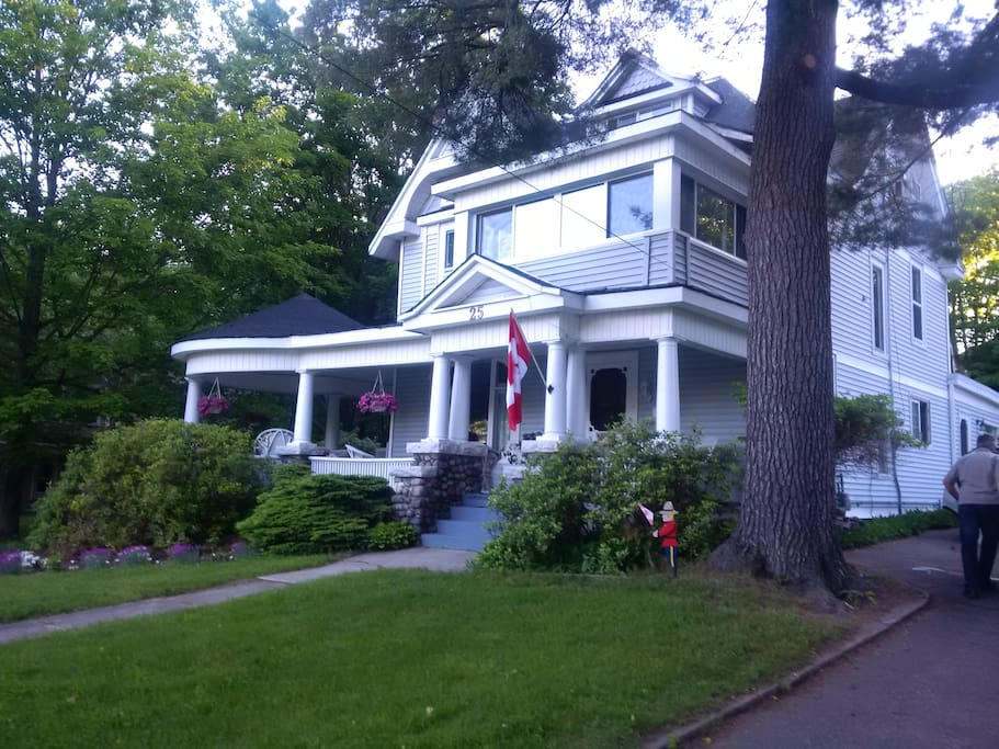 Built in 1880, the home has a wrap around porch, original wood and hardwood floors. Three rooms are available for guests to book.