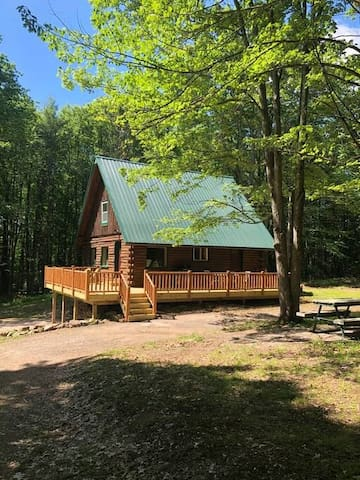 Luxury Catskills Log Cabin Private Lake with boats