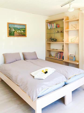 Double bed (two single mattresses)