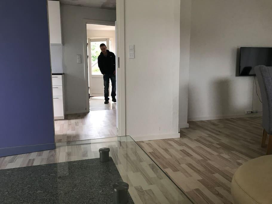 Indgang til fælles stue.