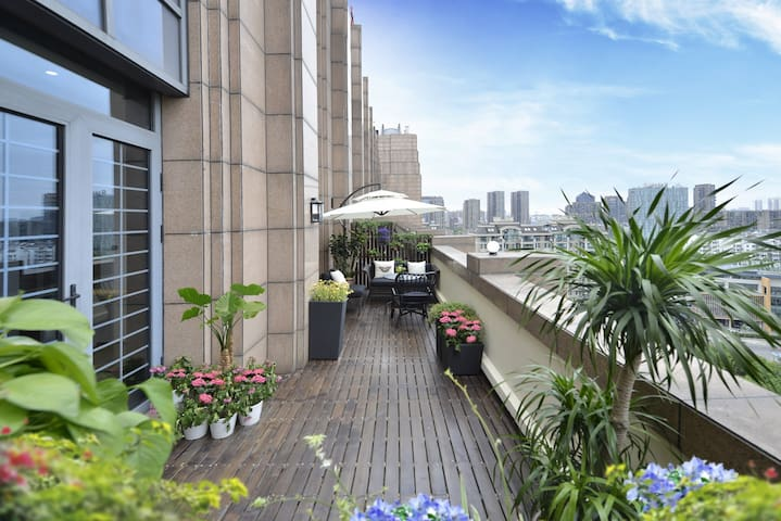 【柠檬新+】放慢步伐,在大露台过个休闲安逸的下午 - Ningbo Shi - Pis