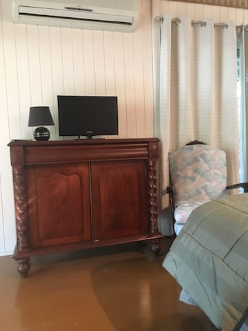 Quality furniture with TV and air conditioning