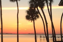 Beautiful sunsets on the Indian river
