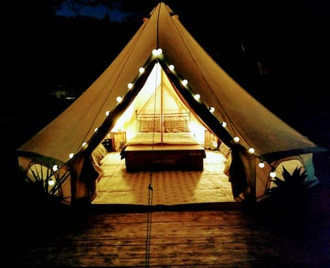 Family Bell Tent at Cactus Lodge