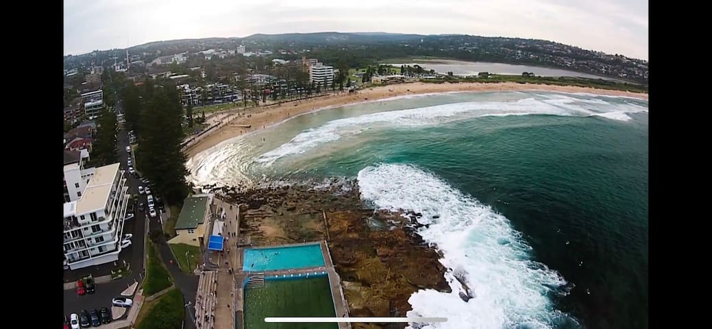 Manly Deewhy beach/happy bright clean /2-9 people