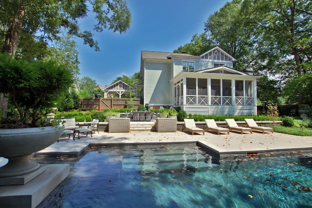 Luxury House With Pool In The Heart Of East Atl Villas For Rent In Atlanta Georgia United