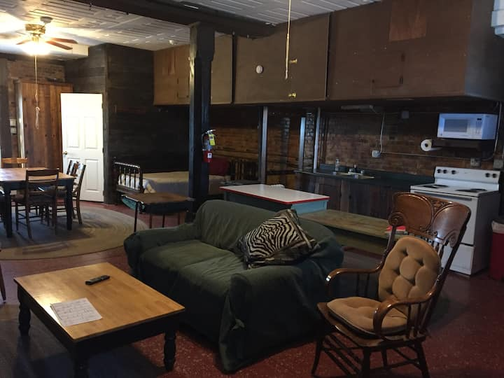 Great room/cabin type apartment in historic bldg