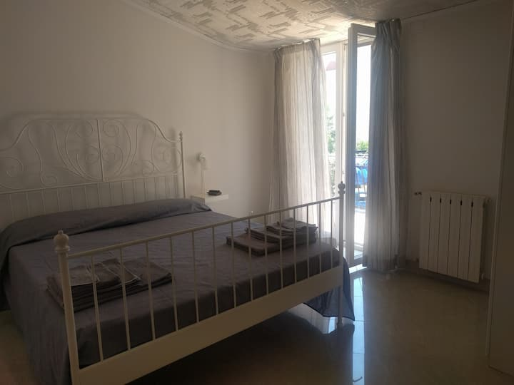 Villa in Riviera. Room with balcony