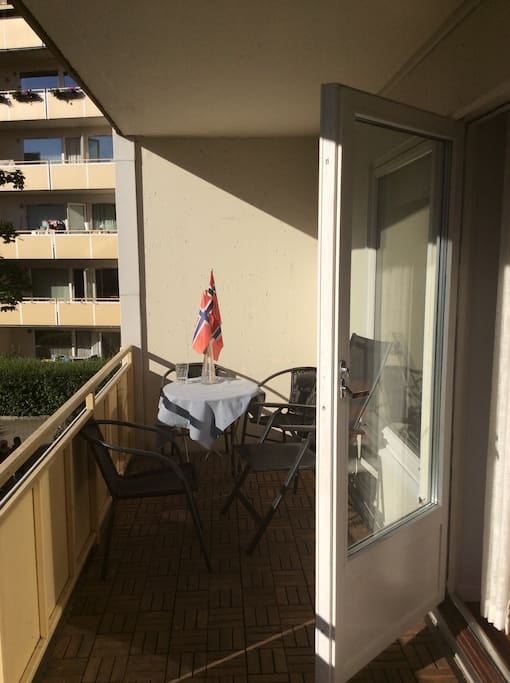 Sunny large balcony