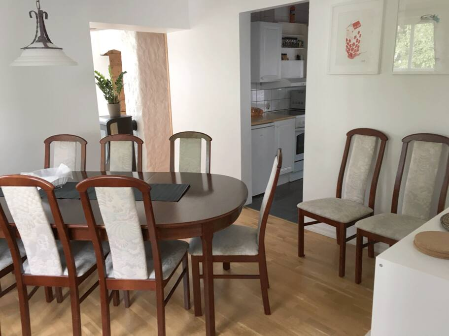Dining area with room for 10 persons