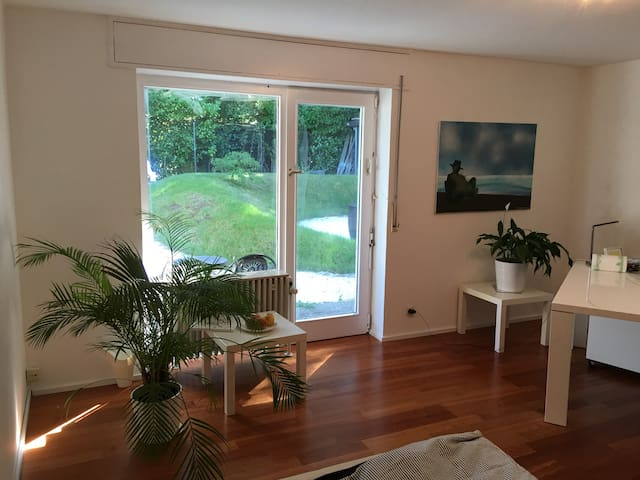 Wonderful room with direct contact to the garden - Karlsruhe - Huis