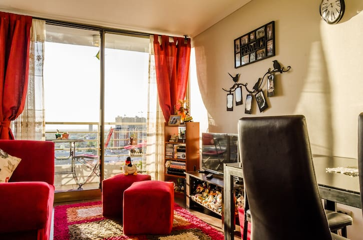 Cozy Private BD near Subway station & museums - Santiago - Apartment