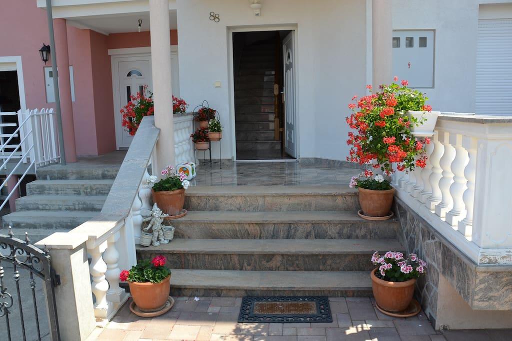 Haus Zugang