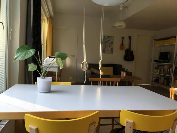 Seaside Home in Central Helsinki 2BR+sauna+silence