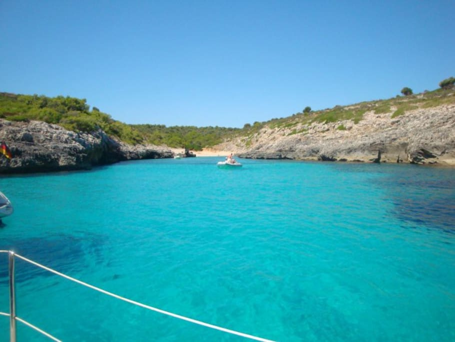 1500m from the house (Cala Molto)