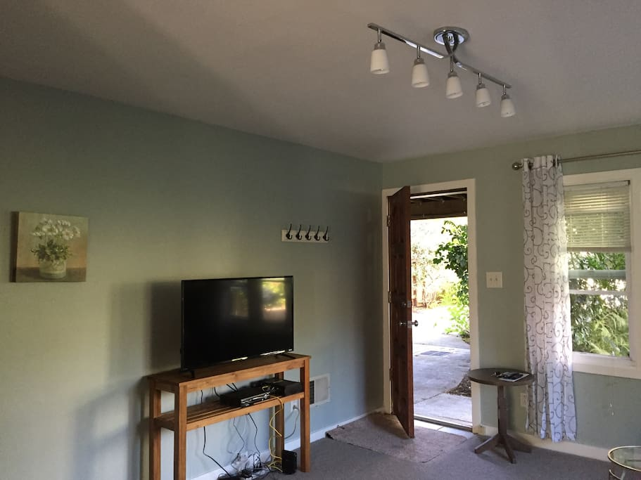 Entrance and flat screen HD TV