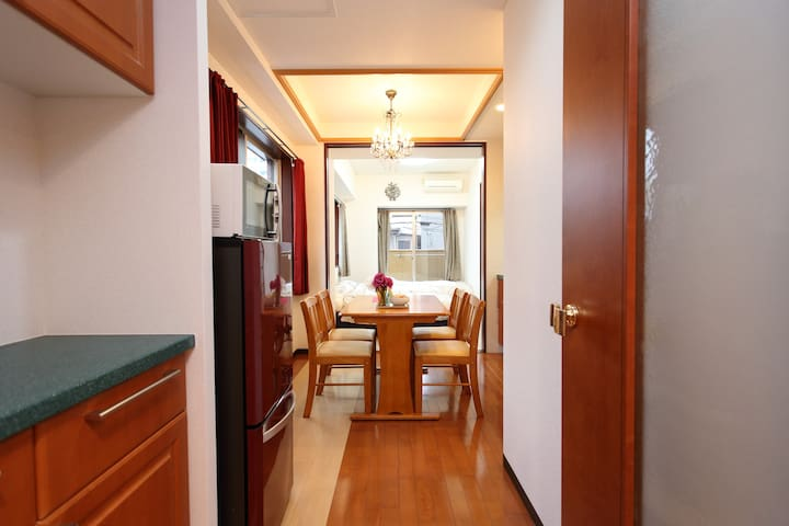 ☆1min walk Kuromon☆Beautiful apt☆Namba,Dotonbori☆ - Chūō-ku, Ōsaka-shi, - Apartment