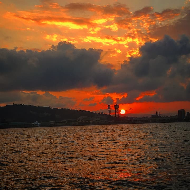 Sunset near Port Vell