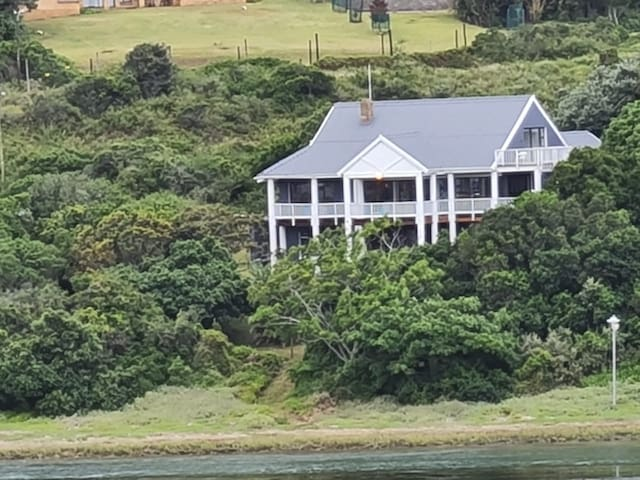 Beach home situated on the river