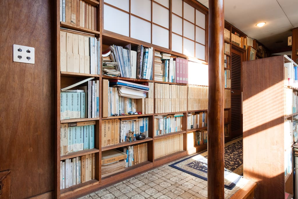 Book shelf on the hallway