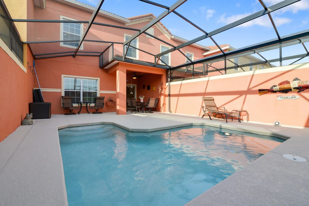 This sparkling plunge pool is the home for your fun and games in the Florida sunshine.