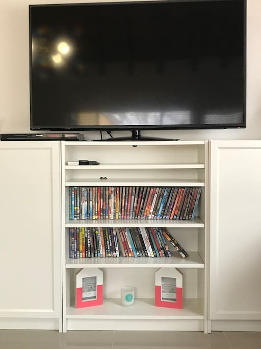 Extensive DVD collection to suit all tastes