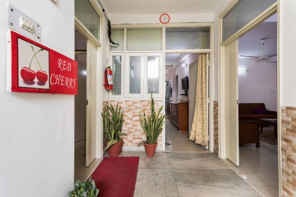 Entrance of Red Cherry Service Aparment