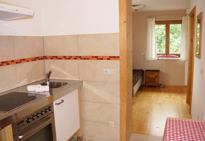 Mini Appartement im Ferienhotel mit Balkon