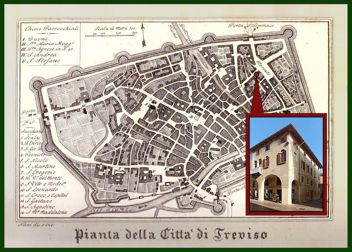 Treviso downtown PARKING WI-FI (3B)