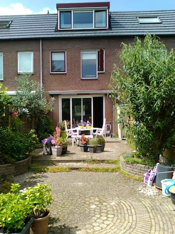 CAE is 2,5 km,close to Amsterdam,free bicycles