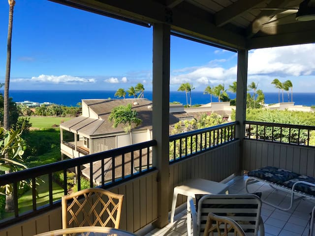 Lanai with, view of the Blue Golf Course.