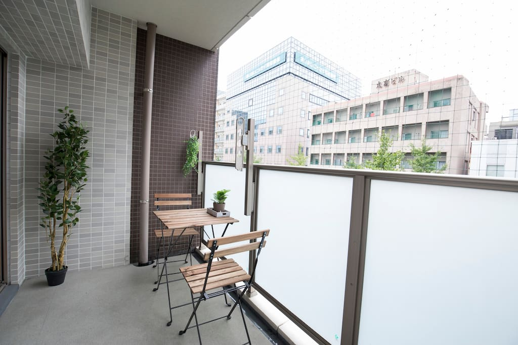 Comfy BALCONY where you can relax and view the city