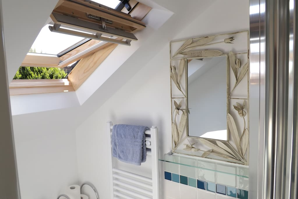 Bright and well-ventilated bathroom