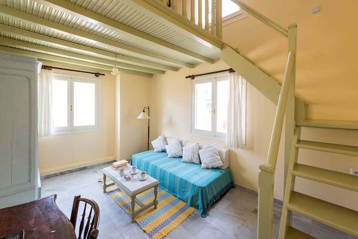 cosy apartment in central historical mansion - Ermoupoli - Apartmen