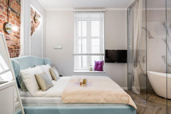 Apartament Dream z luksusową wanną 2 min od morza