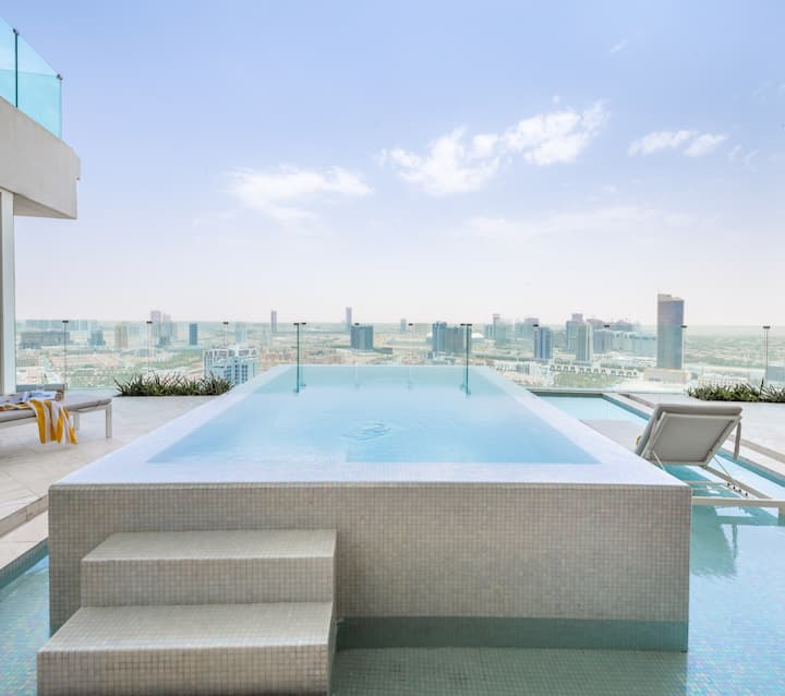 Stunning 2BR Sky Villa w/Private Pool In The Five JVC