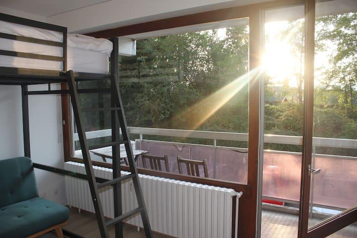 Studio Lumineux avec balcon